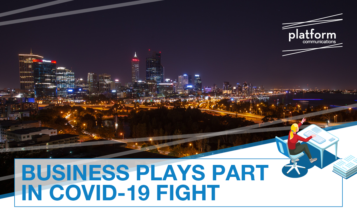 Business plays part in COVID-19 fight